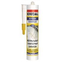 Нейтральный санитарный силикон SOUDAL
